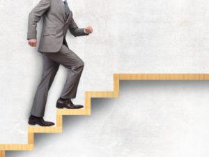 資格勉強の階段を登る