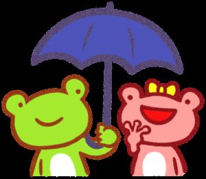 京の蛙と大阪の蛙