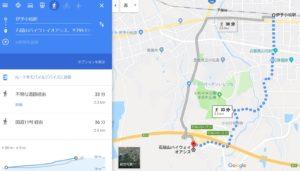 伊予小松駅からの地図