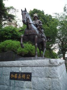 加藤嘉明公の銅像