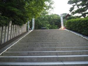 東雲口登城道の入り口