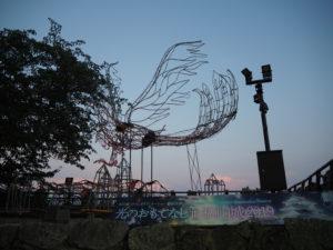 松山城の鳥のような物体