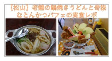 【松山市】アサヒの鍋焼きうどんと、清まるのとんかつパフェを食らう