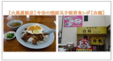 【白龍】今治の有名焼豚玉子飯を食らう【大黒屋飯店】