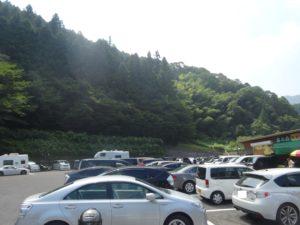 道の駅、霧の森の駐車場はほぼ満車