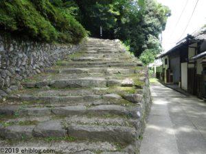 宇和島城への登坂
