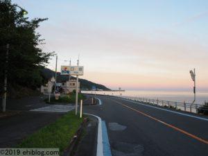 下灘駅への道
