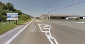 肱川あらし展望公園への道