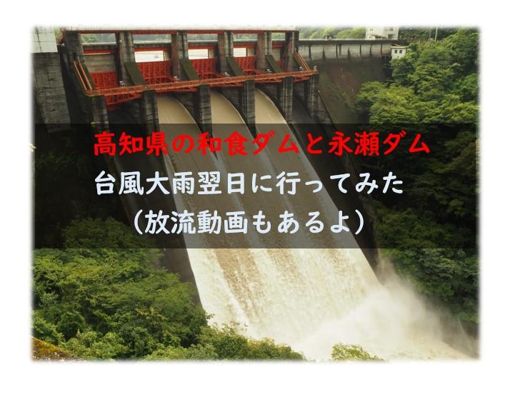 高知県和食ダムと永瀬ダム