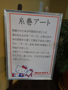 HELLO KITTY の糸巻アート2
