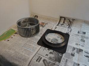 換気扇の部品を乾燥