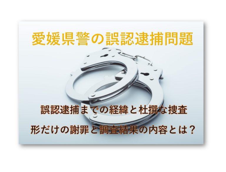 愛媛県警誤認逮捕問題