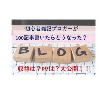 【2020年版】初心者雑記ブロガーが100記事書いたらどうなったか大公開【PV・収益・SEO】