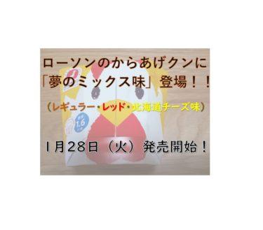 【ローソン発】あの「からあげクン」に夢のミックス味登場!今月28日(火)から発売、実食レポ付