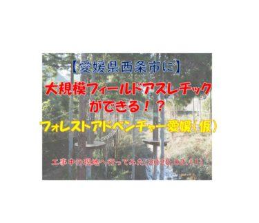 【フォレストアドベンチャー西条】愛媛県に本格フィールドアスレチック施設が誕生!?工事中の現地へ行ってみた