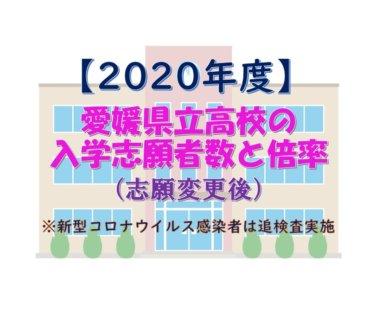 2020年度愛媛県立高校入学志願者数(志願変更後)