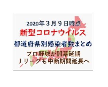 【3月9日時点最新】新型コロナウイルス都道府県別感染者数まとめ【長期化で世界恐慌に!?】