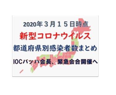 【3月15日時点最新】新型コロナウイルス都道府県別感染者数まとめ【IOCバッハ会長、緊急会合開催へ】