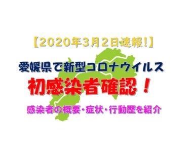 【2020年3月2日速報】愛媛県で初の新型コロナウイルス感染者確認!発熱や咳等の症状無し