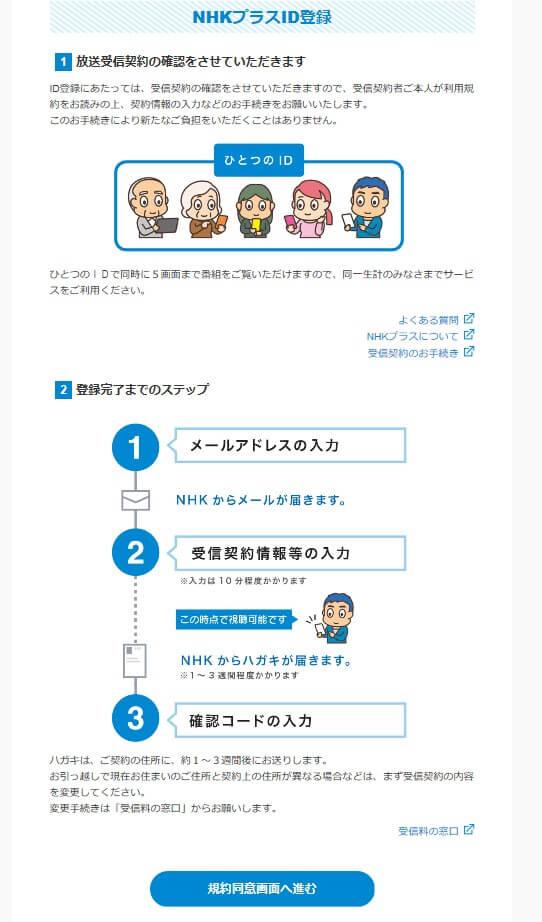 NHKプラス登録手順
