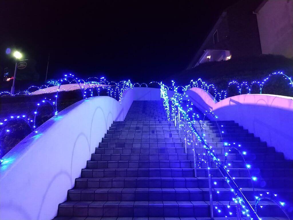 タオル美術館2020夏ライトアップ
