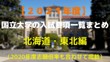 2021年度国立大学入試要項