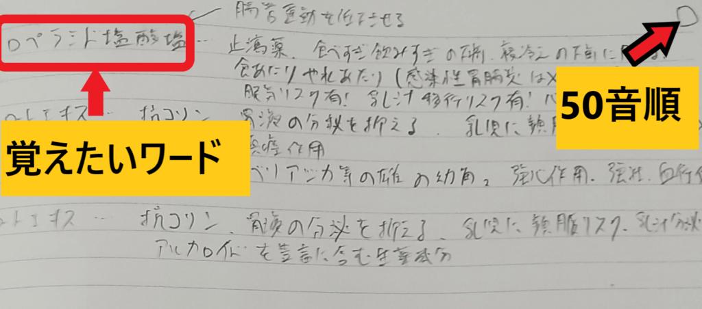 登録販売者用オリジナルノート