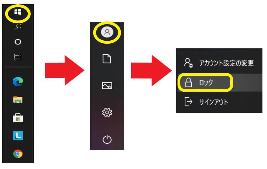 パソコンのロック方法