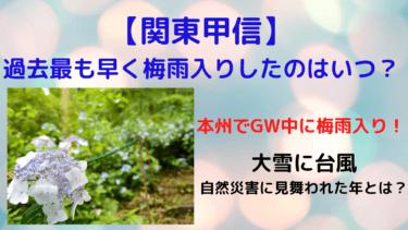 【関東甲信】過去最も早く梅雨入りしたのはいつ?その年は異常気象続きだった!