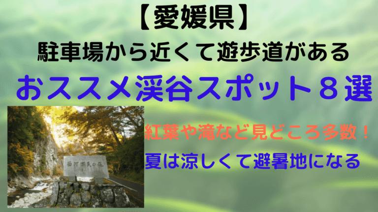 愛媛県の渓谷スポット